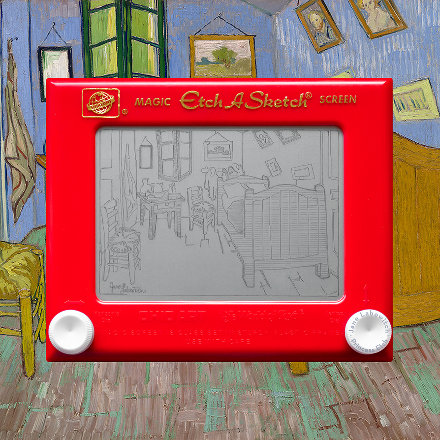 Van Gogh's Bedroom Etch A Sketch by pikajane