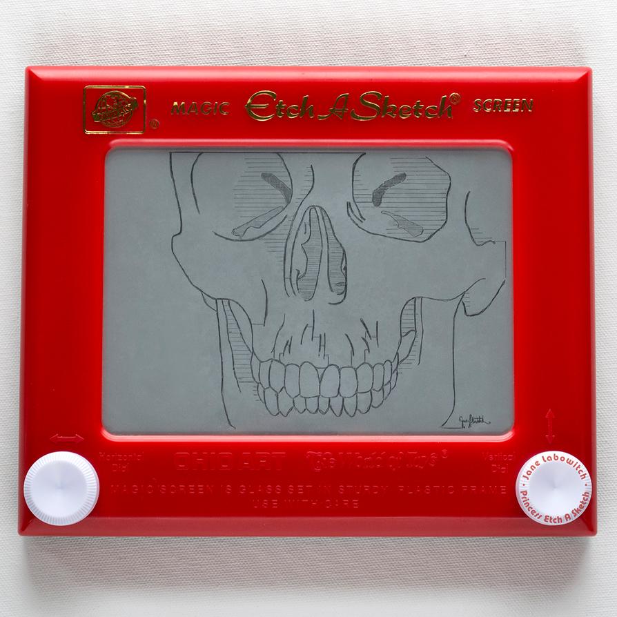 Skull Etch A Sketch (take 2!) by pikajane