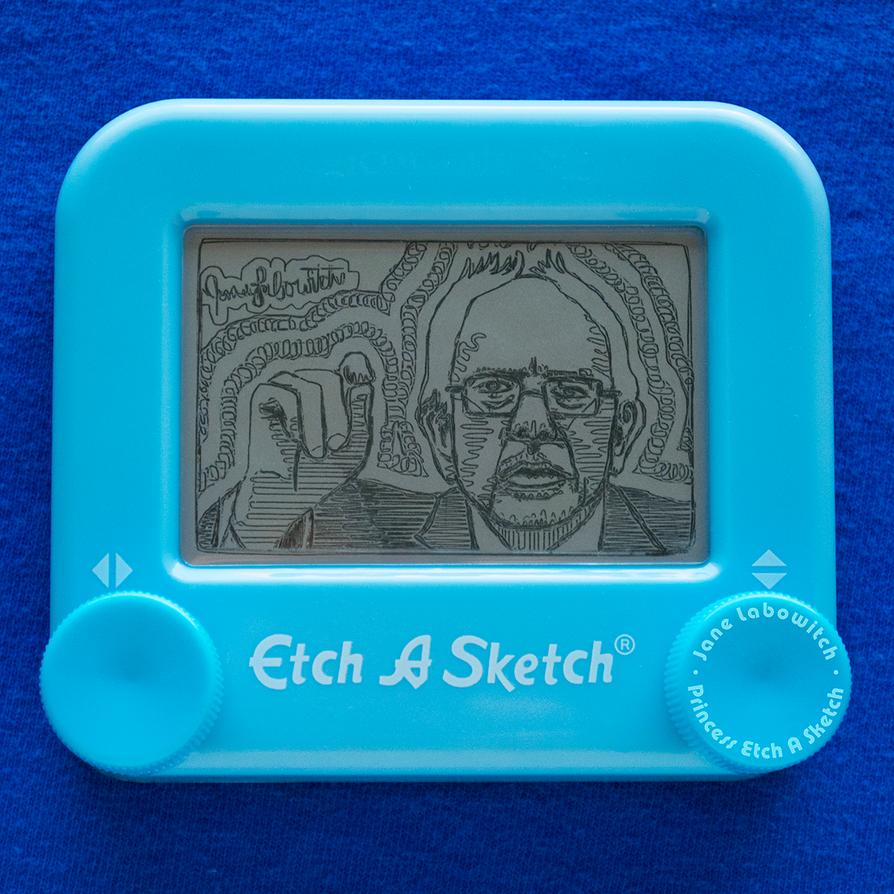 Bernie Sanders Etch A Sketch by pikajane