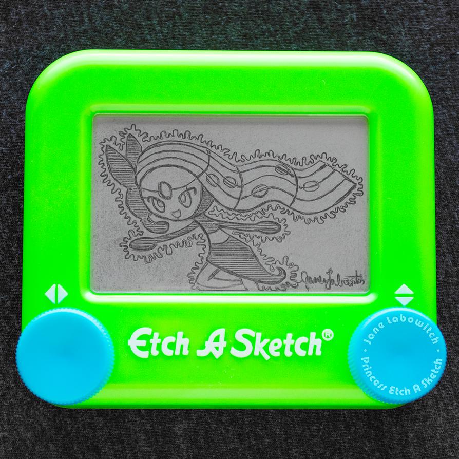 Meloetta Etch A Sketch by pikajane