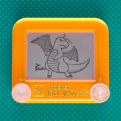 Dark Dragonite Etch A Sketch by pikajane