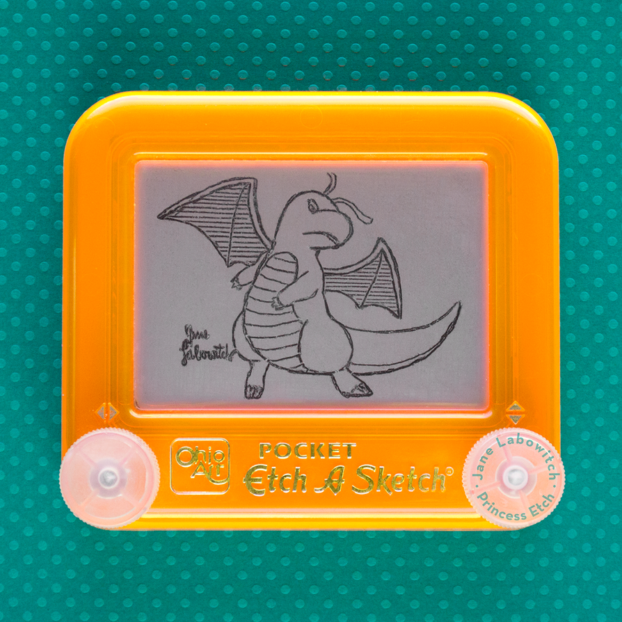 Dark Dragonite Etch A Sketch by pikajane