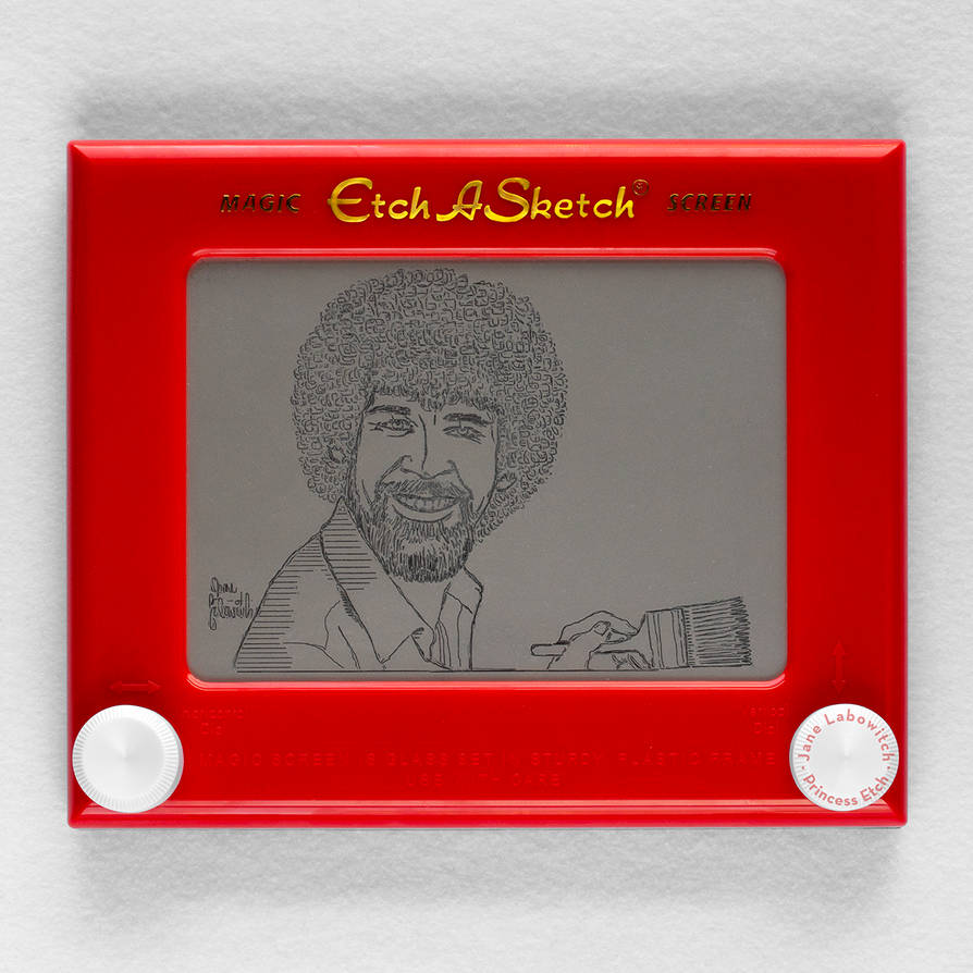 Bob Ross Etch A Sketch by pikajane
