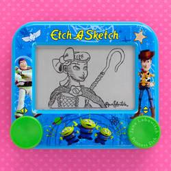 Bo Peep Etch A Sketch by pikajane