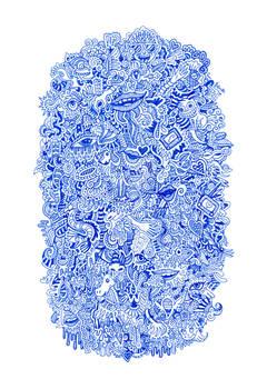 Blue Graphic Doodle