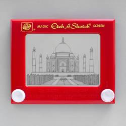 Taj Mahal Etch A Sketch by pikajane