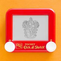 Gryffindor crest Etch A Sketch