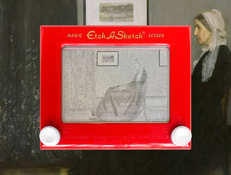 Whistler's Mother Etch A Sketch by pikajane
