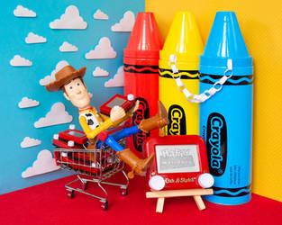 Toy Story 25th anniversary Etch A Sketch by pikajane