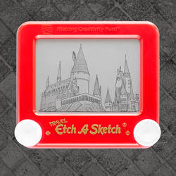 Hogwarts Etch A Sketch by pikajane