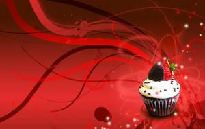 Strawberry cupcake wallpaper by Sanaia-art