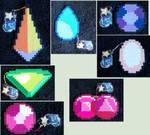 Steven Universe Gem Perler Sprites [For Sale]