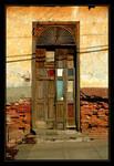 Shadow Across The Quilted Door