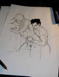 DBZ - Inking Passion by Shinjuchan