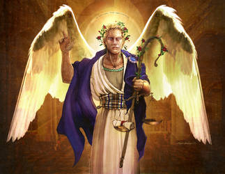 Archangel Jeremiel - Card #1 by Shinjuchan