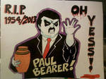 Paul Bearer Memorial Wall RAW Poster by Shinjuchan