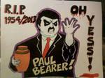 Paul Bearer Memorial Wall RAW Poster by Shinjuchan