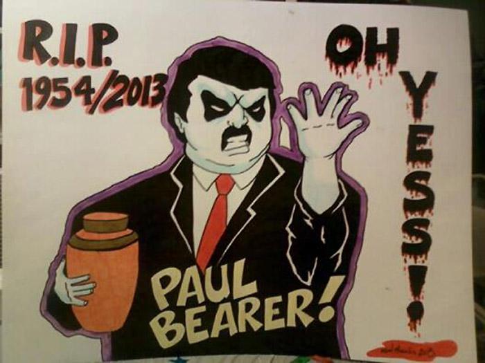 Paul Bearer Memorial Wall RAW Poster