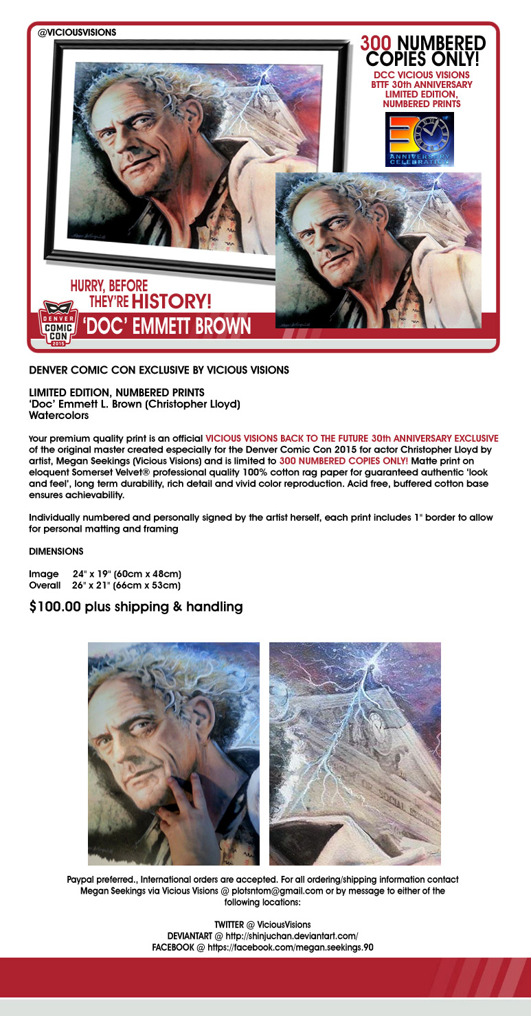 DCC 2015 Christopher Lloyd exclusive prints