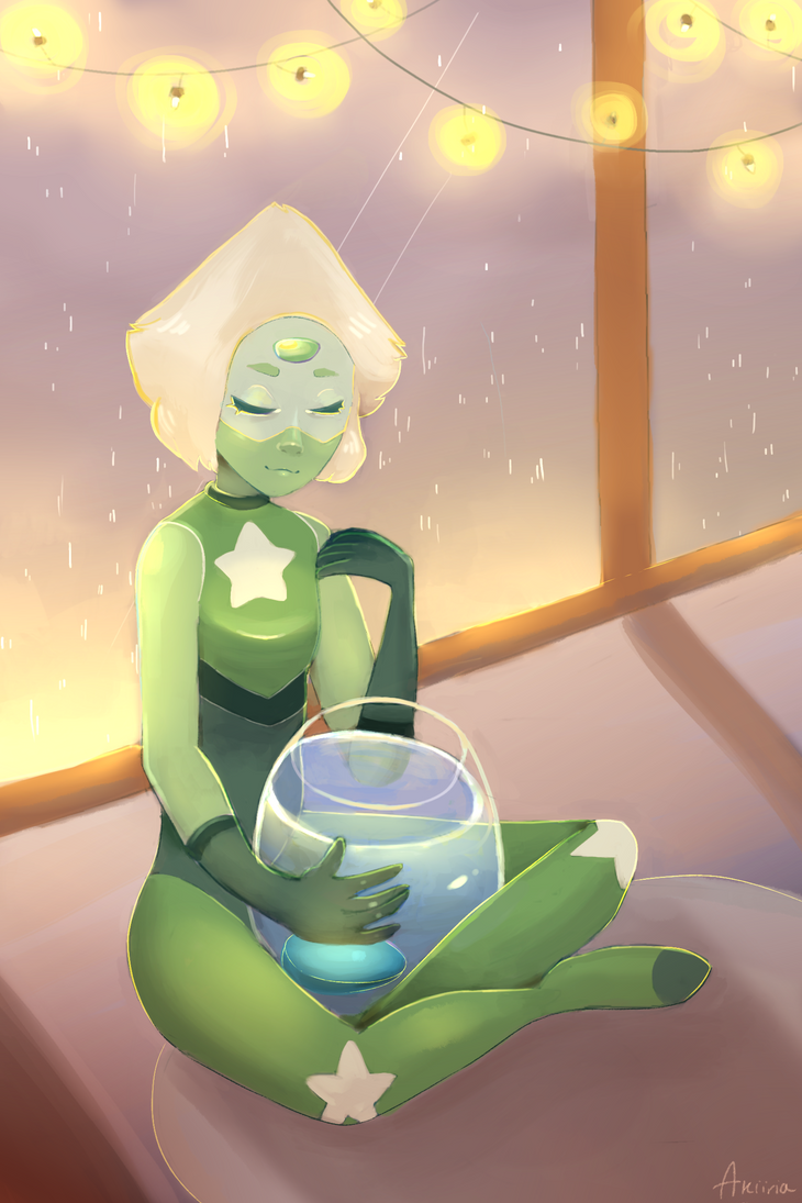 Heyy i'm back from another hiatus lmao my internet got cut off for a bit. So I drew Peri waiting for Lapis to reform. It was a lot of fun to create her new outfit. :> Hope you like it!