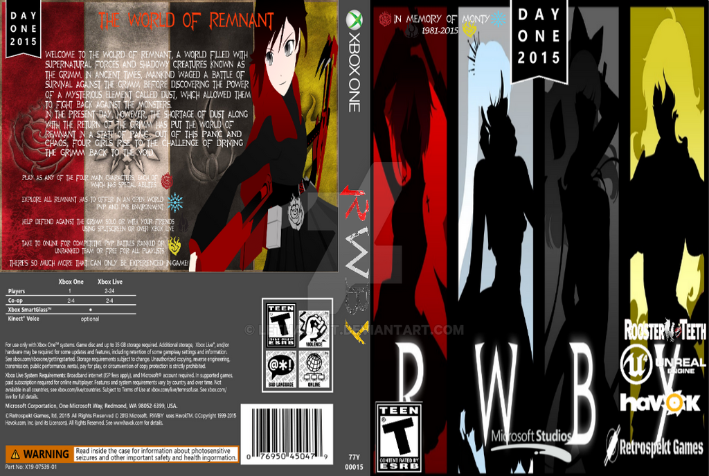 RWBY for Xbox One by LethalAnt on DeviantArt