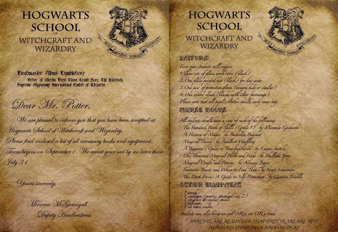 Hogwarts Acceptance Letter by Envy555 on DeviantArt – Hogwarts Acceptance Letter