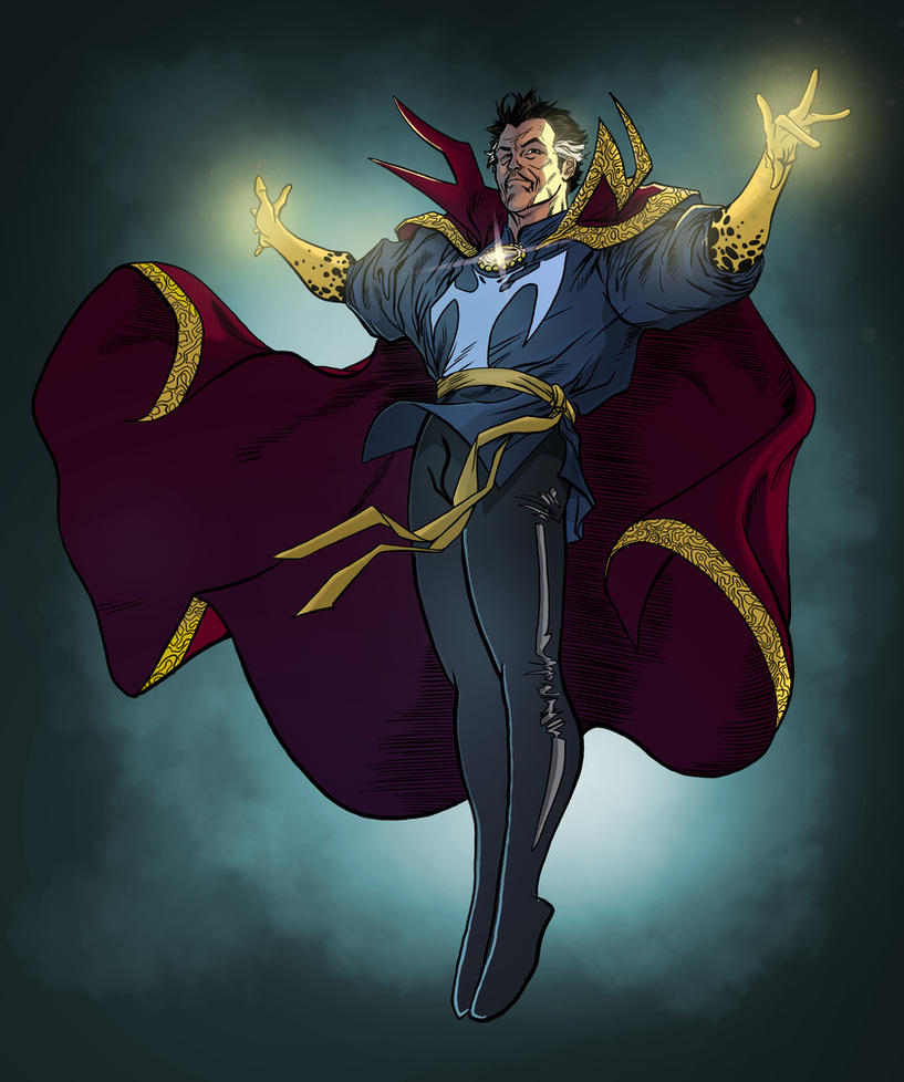 Doctor Strange By Spiderguile   Flats By Nocturnal by marcopelandraart