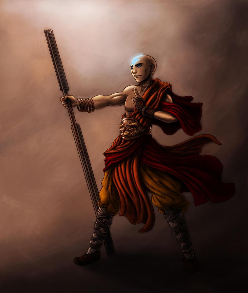 Avatar Art: Aang By PioPauloSantana
