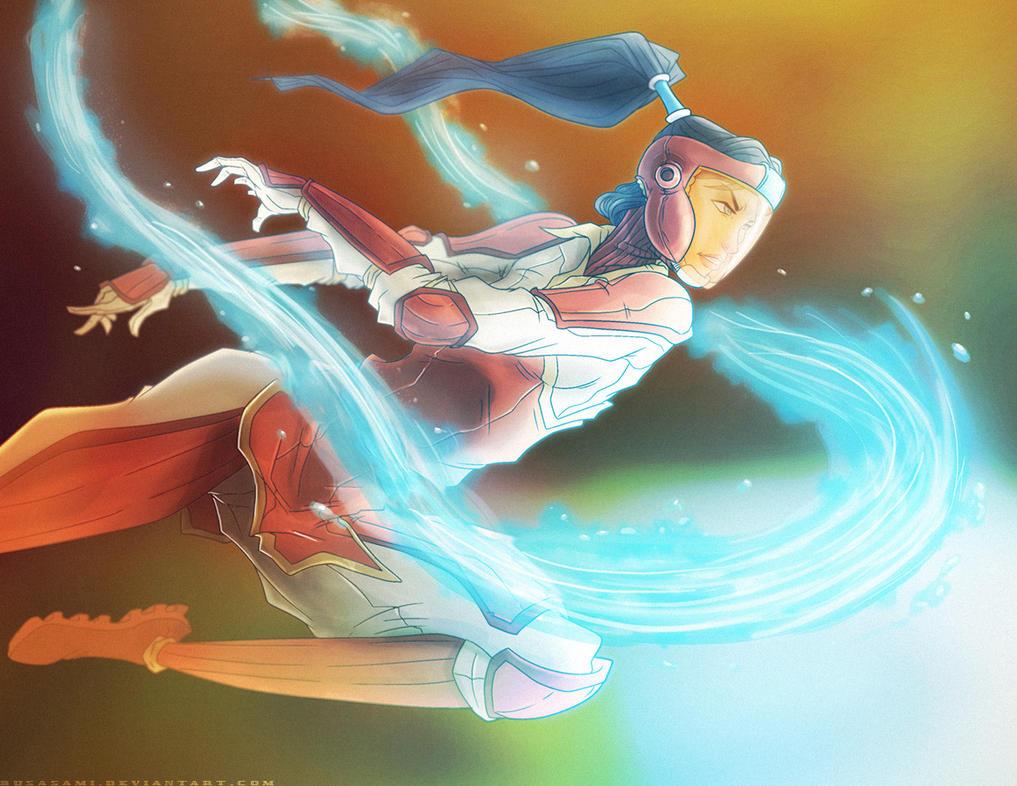 Avatar Korra in Fire Ferret Uniform by PioPauloSantana
