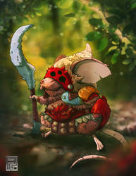 Character Design Challenge - Mouse Warrior by PioPauloSantana