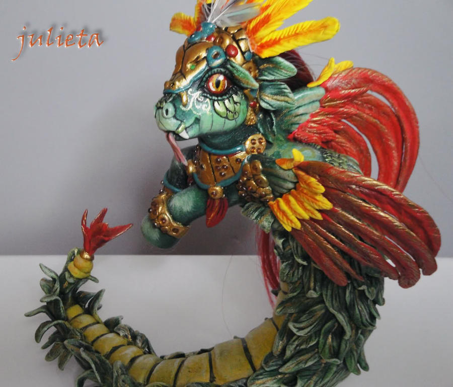 Little pony custom Quetzalcoat by AmbarJulieta