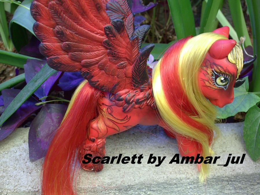 my little pony Scarlett by AmbarJulieta
