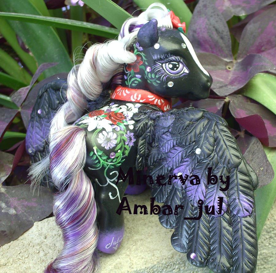 My little pony Minerva by AmbarJulieta