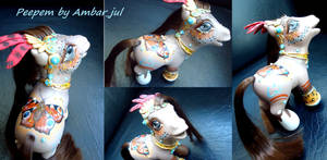 My little pony custom Peepem Butterfly by AmbarJulieta