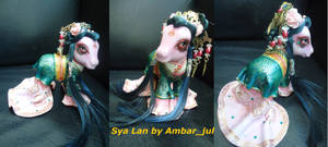 My little pony custom chinese Sya Lan by AmbarJulieta