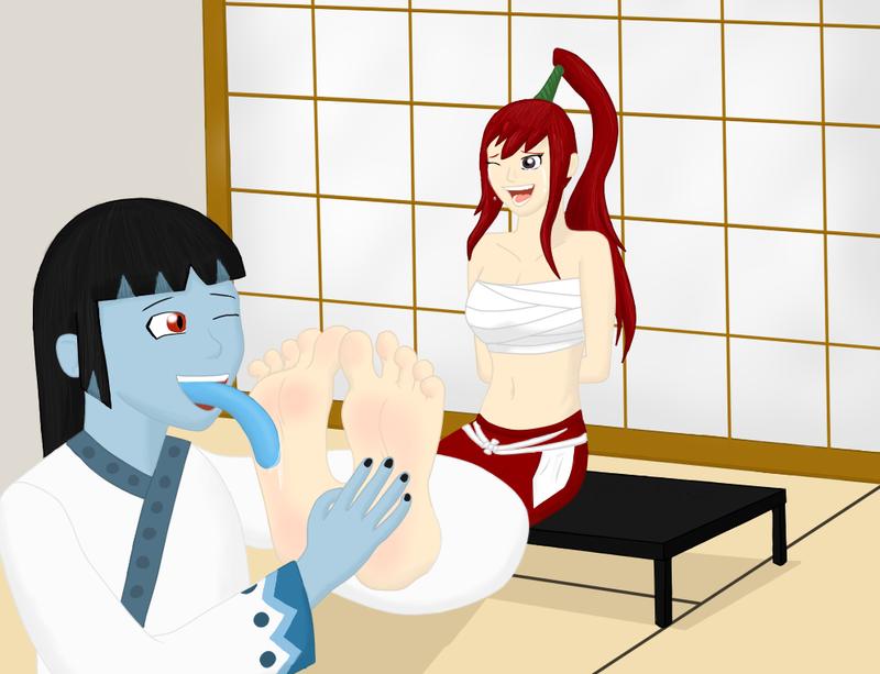 Erza and Oishii by Varikki