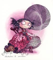 The Knitting Lady by maina