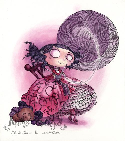 Knitting Lady At Guillotine : The knitting lady by maina on deviantart