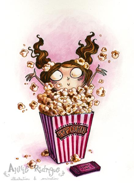 Popcorn Girl by maina