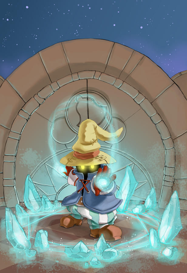 Vivi: Blizzard Spell by maina