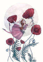 Red Poppy and the Ladybug by maina
