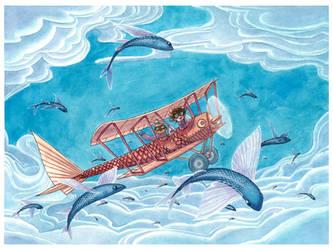 Flying Fish Wonderland by maina