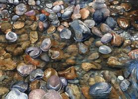 Rocks in water by aakritiarts
