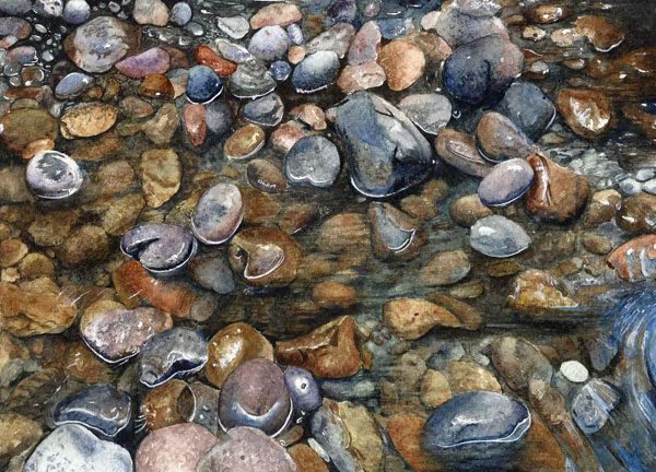 Rocks in water by aakritiarts