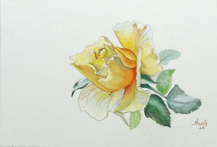 Yellow Rose by aakritiarts