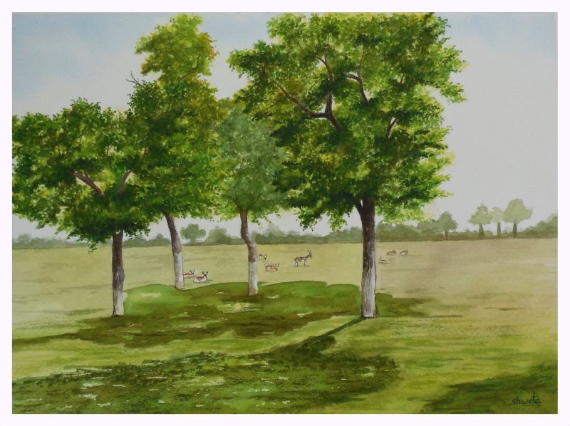 Mughal Garden in Agra by aakritiarts