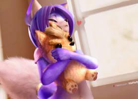 Krystal Hugging Fox Plushie