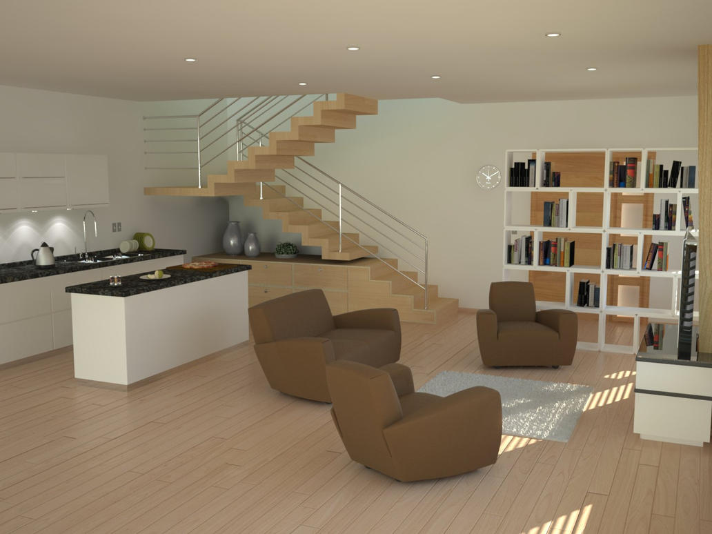 living room and mini bar 1 by nektares on deviantart