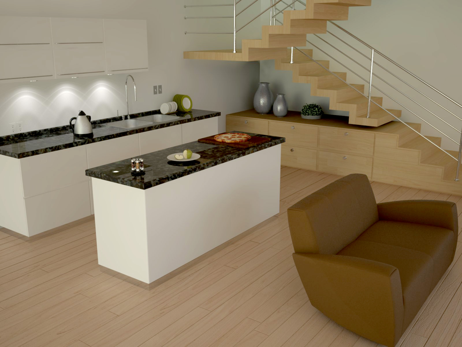 Living room and mini bar 3 by nektares on deviantart for Mini bar for small living room