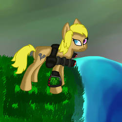 Ebony Fallout Equestria by ThatLovelyArtNerd